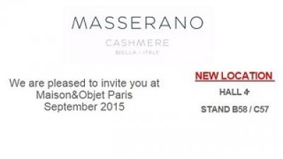 Masserano Cashmere на Maison Objet Parigi.
